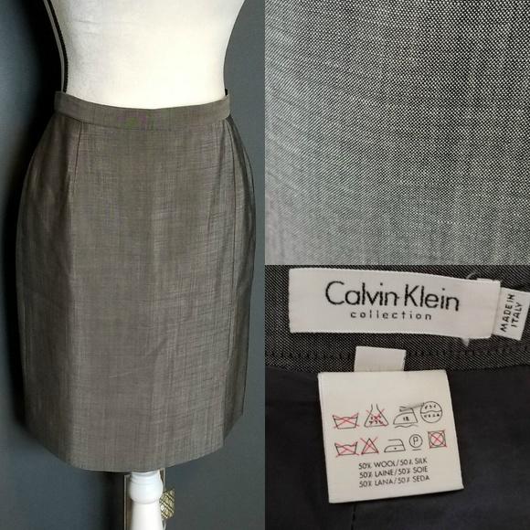 891fe1490d52b Calvin Klein Dresses   Skirts - CALVIN KLEIN Gray Pencil Skirt for work!